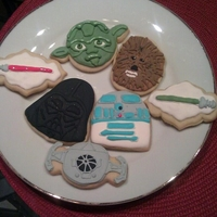 Star Wars sugar cookies, iced in royal icing