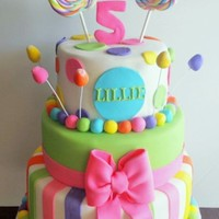Candyland Candy Cake Candyland/candy cake. All decorations are fondant.