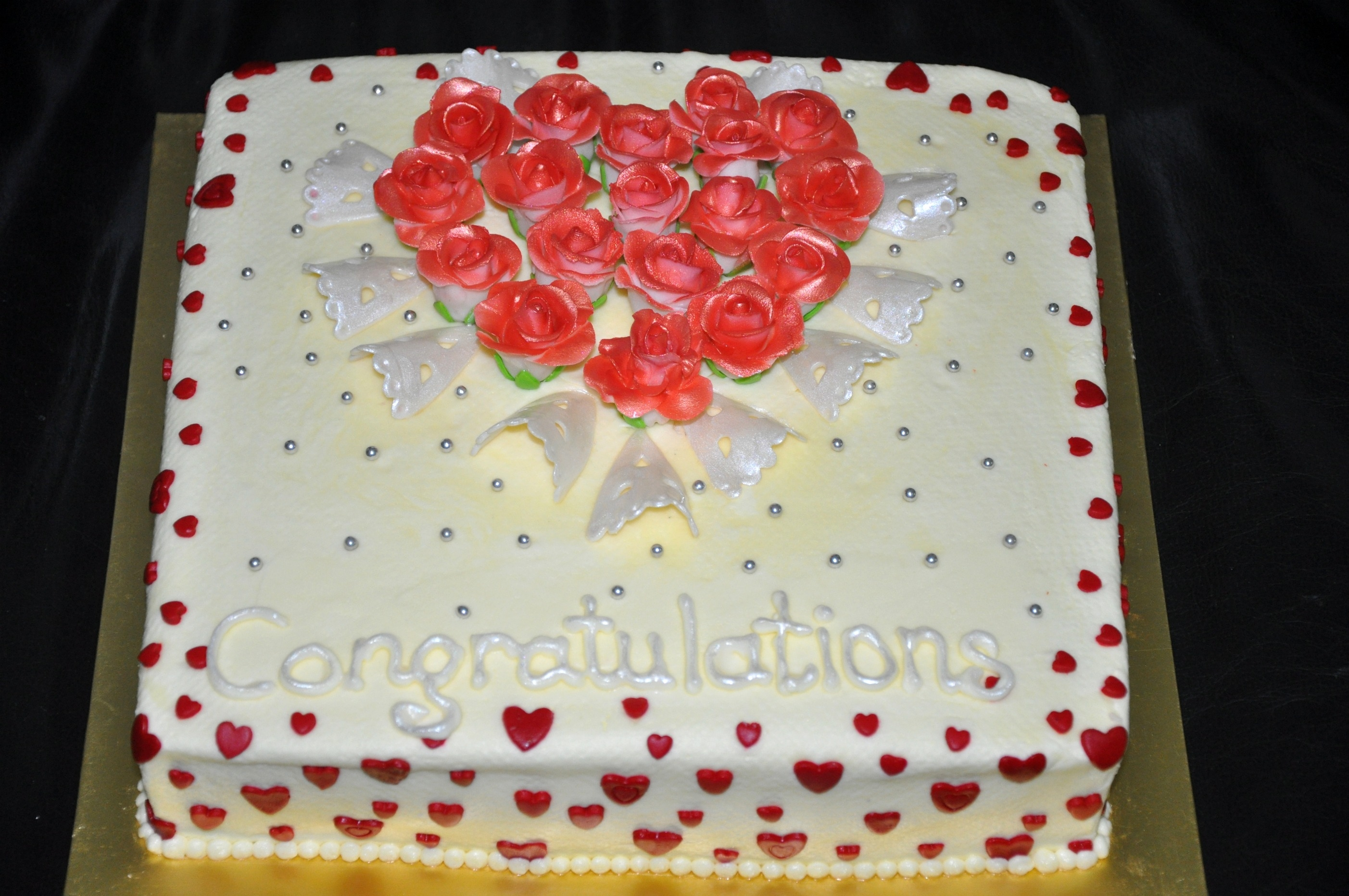With Butter Icing And Fondant Accents All Edible Thank You   With Butter icing and fondant accents. All edible. Thank you =)