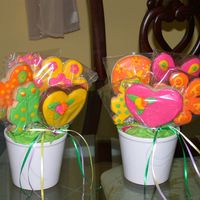 Cookie Bouquet sugar cookies with royal icing and mmf