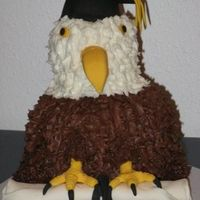 Eagle Graduation Cake Graduation cake for my son, the high school mascot is a bald eagle so I thought this would be fitting.