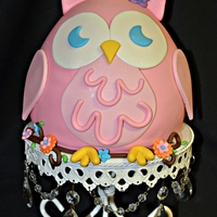 Pink Owl All fondant with fondant details.
