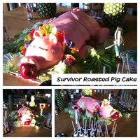 "Survivor Style Roasted Pig I made this ""roasted"" pig for my sons Survivor Island Birthday Party. I wish I had had more time to fix him up, but the idea was..."