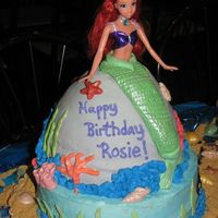 Ariel- The Little Mermaid Cake This cake was so much fun to do. I made all of the shells out of chocolate and white chocolate and painted them with luster dust. All...