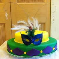 Mardi Gras A cake I donated to a benefit