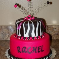 Teen Girls Birthday Cake for a friend of mine.