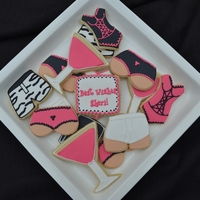 Bachelorette Party Cookies NFSC with Glace & Royal Icing