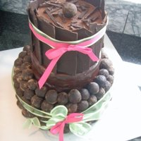 Chocolate Lovers Cake With Cake Truffles Chocolate lovers cake with cake truffles