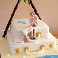 Suitcase Cake couple married in cuba wanted a beach theme