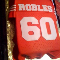 San Francisco Niner Jersey 9x13 wasc with fondant.