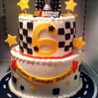 Nascar Birthday Cake  The little boy feel in love with Jan14grands cake and asked me to make it exactly like hers. I even ordered the candle on ebay. WASC with...