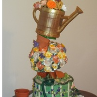 Watering Can Garden Cake