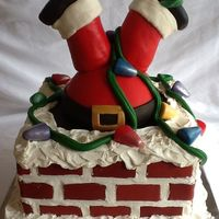 Santa Stuck In The Chimney Had a blast making this cake. Great ideas from the other cc'ers!! I used 3 10 inch square pans, the Wilton half ball for the butt and...