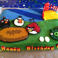 Angry Birds 8Th Birthday For My Son I am a very amateur cake maker. I've never taken any classes. Everything I've done I've taught myself from reading and...