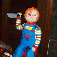 Halloween Cake Chucky cake for a Halloween Party. All cake, fondant and modeling chocolate.