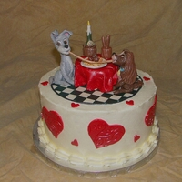 Lady And The Tramp Cake Made for a charity raffle