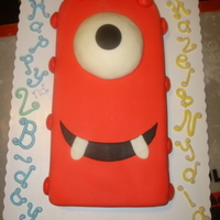 Yo Gabba Gabba's Muno Birthday Cake My twin girls just celebrated their second birthday and they are huge fans of Yo Gabba Gabba. I made them a Muno birthday cake. One half of...