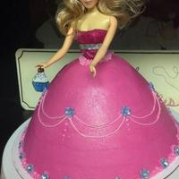 A Barbie Cake For A 13 Year Oldshe Loved It Lol A barbie cake for a 13 year old..She loved it lol