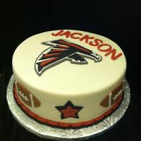 Birthday An Atlanta Falcon fan's birthday cake- falcon was hand cut.