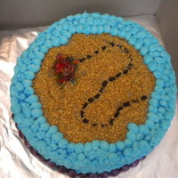Treasure Island This cake shows a treasure map - and is completely edible. Chopped Twizzlers for the dotted lines, crushed Jolly Ranchers for the treasure...