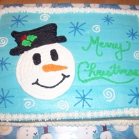 Snowman Sheet Cake I copied this from someone on this site. I don't remember who, but thank you!