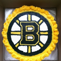 Boston Bruins Cake Buttercream Transfer