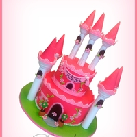 Princess Castle Cake Thanks Royal bakery for sharing your work. I made this cake with her hello kitty cake as inspiration.