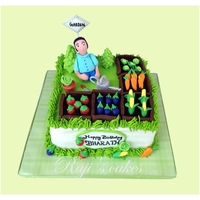 Vegetable Garden Cake! My Version of Gardening Cake! The customer Requested Gardening Theme cake for her Husband. She also gave the Choice of Vegetables. Hope you...