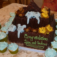Noah's Ark Made for my sister's baby shower--she's having twin boys. I didn't have enough cake for the guests so I added cupcakes that...