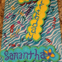 Samantha's 7Th Birthday Cake Break-away cupcake cake for my daughter's 7th birthday party.