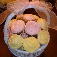 Cupcake Bouquets Made for centerpieces for a fashion show/luncheon