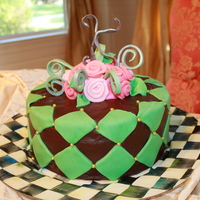 Kristin's 40Th Bday Cake Made for my friend's 40th birthday. Buttercream with fondant accents.