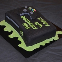 Xbox 360 10 inch chocolate mudcake covered in chocolate BC and mmf