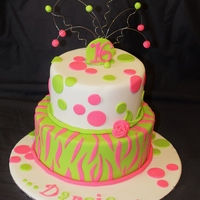 Darcie 16 6 and 8 inch mudcakes covered in ganache and fondant.