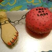 Ball And Chain divorce cake