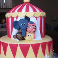 Circus Tent   All fondant. I loved making this one!