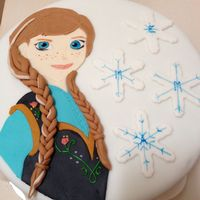 Princess Anna From Frozen All Fondant I Painted On Her Face Princess Anna, from Frozen. All fondant. I painted on her face.