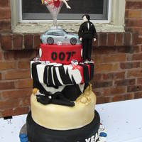 James Bond Cake Fondant Rc Car Fondant Figures James Bond cake, fondant ,RC car, fondant figures