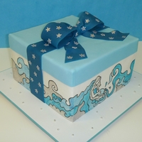 Aquarius Birthday Cake With Tutorial I toke pictures of the process of making this cake and Cakeb0t put it toguether and made a great tutorial on partern transfer.www.youtube....