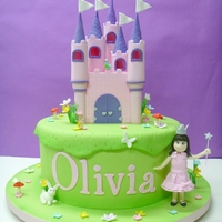 Princess Birthday Castle was made with fodant+tylose.