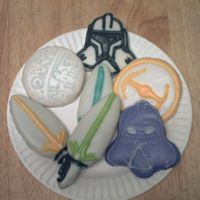 Star Wars Cookies I had fun trying these out!