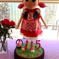 Lalaloopsy Scarlet Riding Hood *I made this for my daughters 5th birthday. She stood at 26 inches tall.