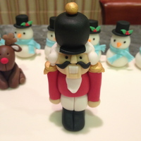 Fondant Nutcracker Figure   Figure made from fondant