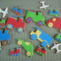 Planes Trains And Automobiles Cookies for my son`s 1st birthday....things that go Voom!