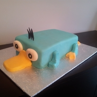 Perry Platapus all fondant decorations