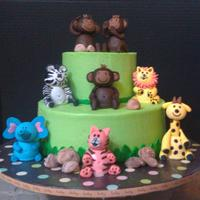Safari Babies Fondant/gumpaste safari babies. LOVED making these! I had so much fun! I used the ones on the cover of the Wilton 2012 Yearbook as my...