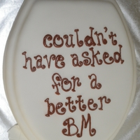 Toilet Lid Cake For A Bank Manager
