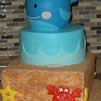 "1St Birthday The Whale on top was the Birthday Boys ""smash"" cake."