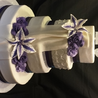 Purple Lillies With Ribbon