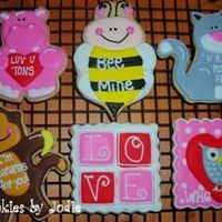 "Valentine Critters These are some of the ""younger"" valentines I did this year. The cat, hippo and monkey came from some wooden cut-outs at the local..."